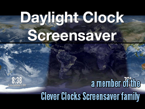 Daylight Clock Screensaver