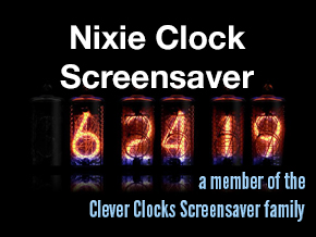 Nixie Clock Screensaver