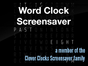Word Clock Screensaver