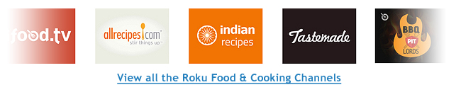 Roku Food Cooking Channels